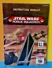 Star Wars Rogue Squadron  Nintendo 64 N64 Instruction MANUAL ONLY !  AUTHENTIC !