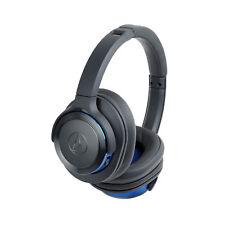 Audio Technica ATH-WS660BT - Blue - Bluetooth Headphones - Authorized Dealer