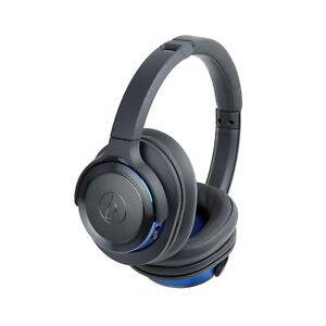 Audio Technica ATH-WS660BT  Blue Bluetooth Headphones 2 Year Warranty Authorized