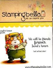 New Stamping Bella Cling Rubber Stamp SCOUT'S HONOR FRIENDSHIP SET FREE US SHIP