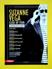 Suzanne Vega - Close Up Tour 2010 UK A5 flyer...ideal for framing!
