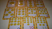 NUMBERS / COUNTING - 20 FLASH CARDS- - TEACHING RESOURCE- FIRST LEARNING - KS1