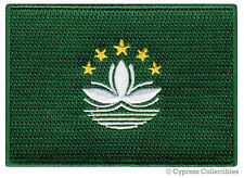 MACAU NATIONAL FLAG PATCH CHINA iron-on EMBROIDERED SOUVENIR CHINESE REGIONAL