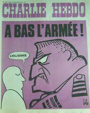 CHARLIE HEBDO No 148 SEPTEMBRE 1973 GEBE  A BAS L ARMEE !