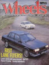 WHEELS Sep 85 Pulsar ET Laser Turbo Golf GTi BMW 735i