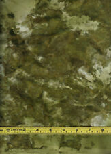 Batik Olive Emerald Camo Green Marble 100% Cotton Fabric 1/4 yd measure off bolt