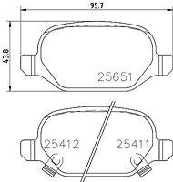 Mintex Rear Brake Pad Set MDB3332  - BRAND NEW - GENUINE - 5 YEAR WARRANTY
