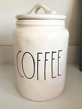 "New Rae Dunn By Magenta COFFEE Large  Canister 9"" Inch HTF"