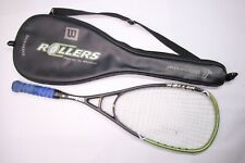 Wilson HyperHammer Roller Hyper Carbon Overdrive Squash Racquet w/ Carry Bag