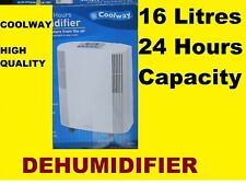 COOLWAY 16LITRES / 24 HOURS DEHUMIDIFIER , AUTOMATIC SHUT-OFF, HIGH POWER