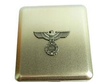 Zigarettenetui aus Metall Silber Reichsadler Adler Deutschland für 20 Zig. #298
