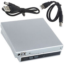 PC Laptop USB 2.0 a IDE Externo CD DVD RW ROM Drive Caddy Funda Cubierta de gabinete