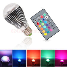E27 Magic RGB LED Light Bulb 16 Colors Changing 9W Home Lamp + IR Remote Control