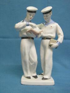 Porcelain Statuette Figurine. Sailors. LFZ. The USSR.