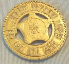 Vintage 1988 Cape May New Jersey Good Luck Token Coin Metal Jenny Brandt USA