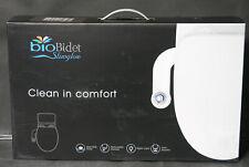 Bio Bidet, SlimGlow Simple Bidet Toilet Attachment in White with Dual Nozzle NEW