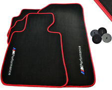 Floor Mats For BMW /// M Performance Emblem Red LHD TAILORED 1990-2017 Models