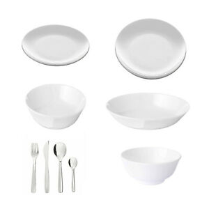Ikea FLITIGHET, Dinner Plates, Side/Deep Plates And Bowls, [Make Your Own Set]