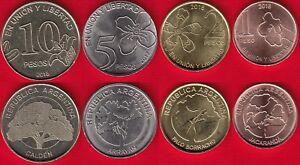 Argentina set of 4 coins: 1 - 10 pesos 2017-2018 UNC