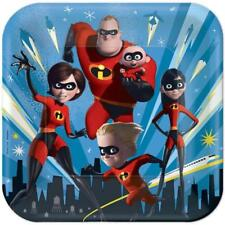Incredibles 2 Lunch Dinner Plates Birthday Party Supplies 8 Per Package New