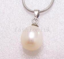 Flowers Plants Pear Pearl Costume Necklaces & Pendants