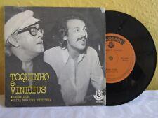 """TOQUINHO E VINICIUS -REGRA T RES- BRAZILIAN 7"""" SINGLE PS BOSSA NOVA"""