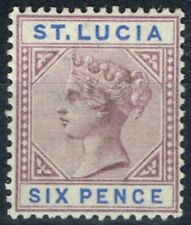 Lightly Hinged St Lucian Single Stamps (1814-1979)