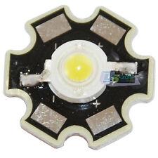 1pcs 3W High Power Pure White LED Light Emitter 6000-6500K W/ 20mm Star Heatsink