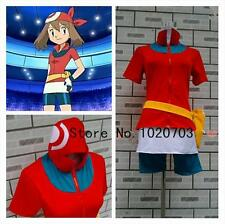 Pokemon Pocket Monsters Haruka May Cosplay Costume F008