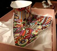 Boxed Unusual Shaped Multi-Coloured Leonardo Collection Cup & Saucer
