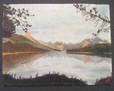 Vintage Painting~Jasper Park Lake Alberta Canada by Kirkpatrick 1954~55 12 x 16