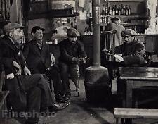 1927/72 Vintage 11x14 A BISTRO Paris Men Cafe Restaurant Photo By ANDRE KERTESZ
