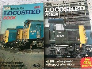 2 x abc Ian Allan British Rail Locoshed Books 1978 & 1979 Diesel Locomotives