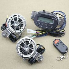 Motorcycle Bike Audio FM Radio MP3 iPod Stereo Speakers SD MMC + Remote control