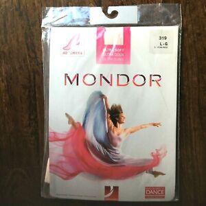 Mondor Dance Convertible Tights 319 Pink 40 Denier Adult L  NIP