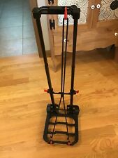 Portable Folding Rolling Handcart  Adjustable For Travel Shopping