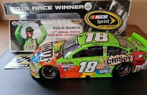 Kyle Busch NASCAR Sonoma 2015 Win 1/24 diecast raced version *read description *