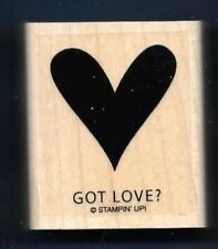 GOT LOVE? HEART Gift Tag FUN card Words Stampin' Up! Wood Mount RUBBER STAMP