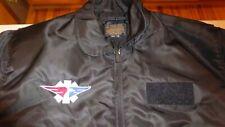 Gibson and Barnes Flyer Winter Fsl-45/P Flight Satin Jacket Vintage Logo Xl Reg