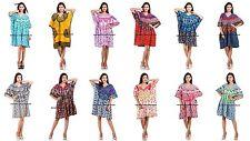 Indian Kaftan Boho Hippy Plus Size Women Dress Ombre Mandala Print Caftan Gown