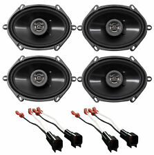"Hifonics 6x8"" Front+Rear Speaker Replacement Kit For 99-04 Ford F250/350/450/550"