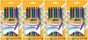 BIC Soft Feel Ball Pen, Soft Touch Comfort, Medium, Assorted Colors, 48 Count