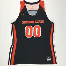 New Nike Oregon State Beavers #00 Elite Basketball Jersey Black Women's Medium