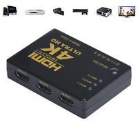 Mini 3Port 1080P 4K HDMI Switch Splitter Schalter Rangierlok Audio/video Adapter