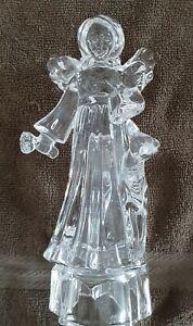 """MILASA Full Lead Crystal """"ANGEL Standing w/Deer"""" Figurine GERMANY"""