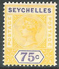 Seychelles 1897 yellow/violet 75c mint SG33