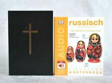 Set 2 Bücher Wörterbuch Russisch Deutsch, Bibel in russischer Sprache