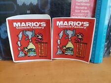 Nintendo Mario's cement factory table top game and watch decals. Decals only!