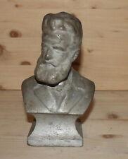 Vintage Bulgarian hand made metal bust figurine Hristo Botev