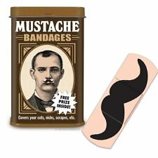 Mustache Bandages with Free Prize Inside, by Accoutrements